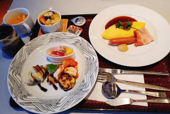 浜千鳥の湯 海舟 朝食 洋食