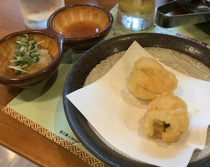 【仙石原 品の木 一の湯】夕食の鱧の天ぷら