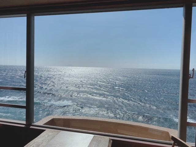 海一望絶景の宿いなとり荘 客室からの眺め