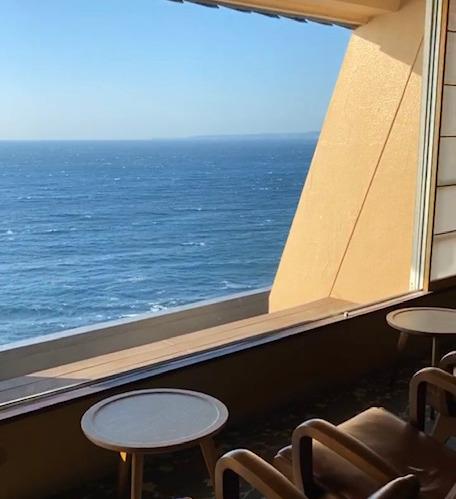 海一望絶景の宿いなとり荘 待合スペース