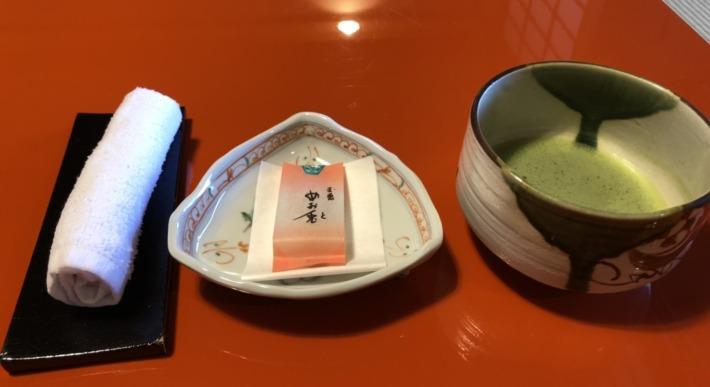 【松島佐勘 松庵】お抹茶とお干菓子