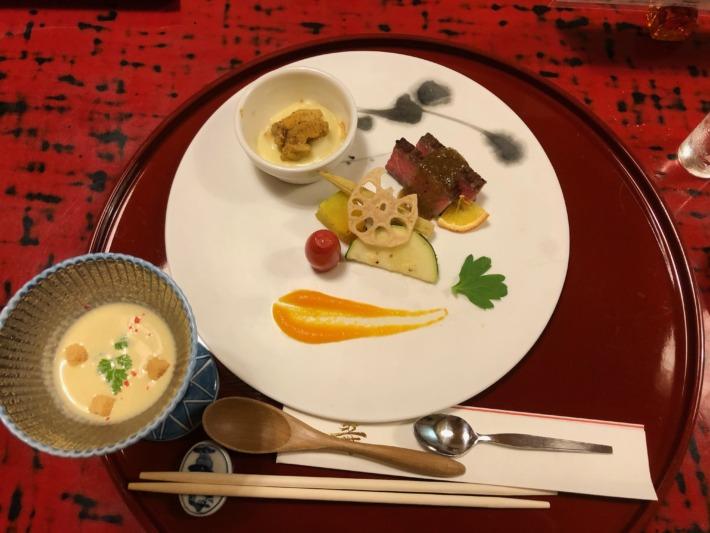 【松島佐勘 松庵】夕食の焼き物