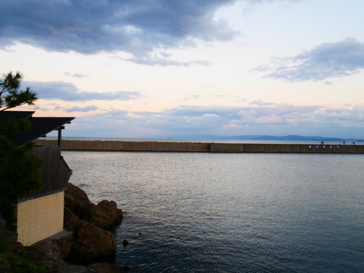 淡路夢泉景から望む大阪湾