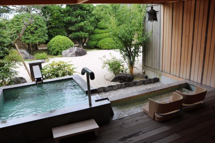 さぎの湯荘 足湯付き客室露天風呂