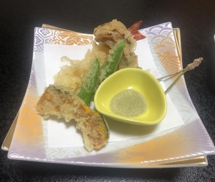 京都嵐山 花のいえ 夕食  天ぷら