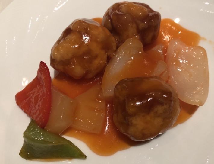 名古屋マリオットアソシアホテル内レストラン梨杏 夕食 広東風酢豚
