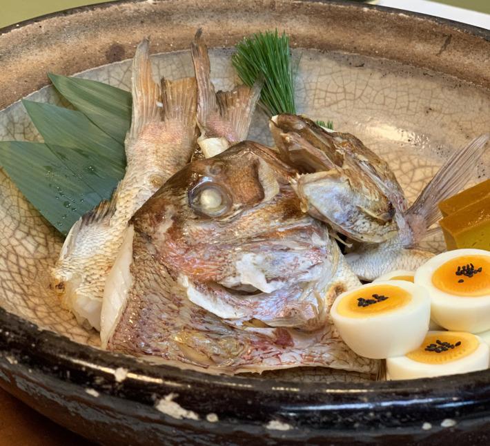 人丸花壇 夕食:鯛の宝楽焼き
