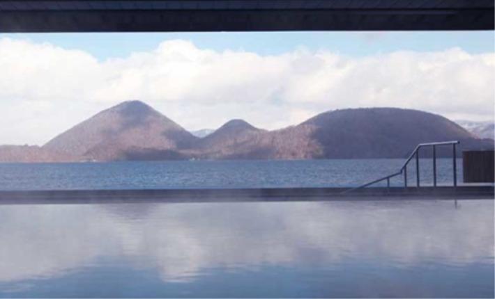 洞爺サンパレス リゾート&スパ 露天風呂から望む洞爺湖の眺め