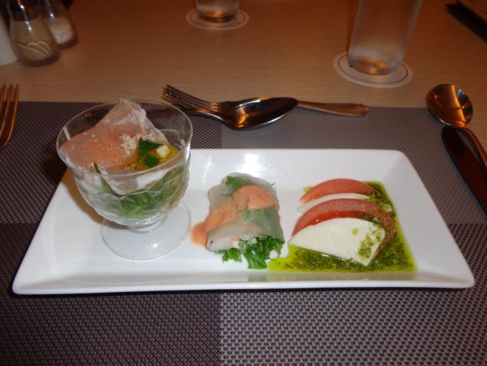 ラグナガーデンホテル内パセオガーデン  コース料理 前菜
