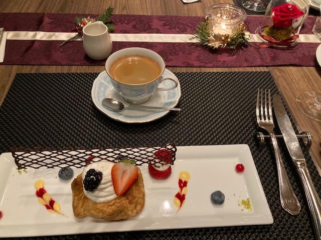 丸ノ内ホテル内レストラン ポム・ダダン アーリークリスマスコース デザート