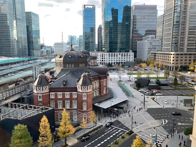 丸ノ内ホテル 7階「大志万 椿壽」からの眺め