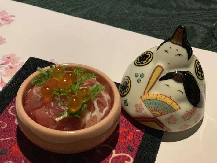 里の湯 和らく 食事処 お雛様のかわいい器料理