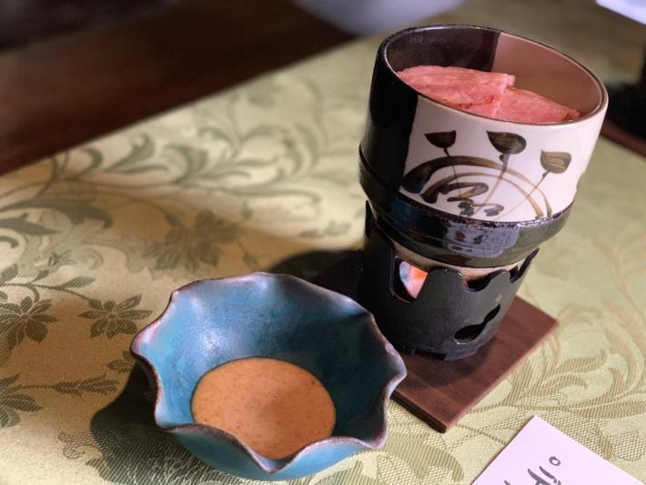 里の湯 和らく 食事処 朝食の鍋