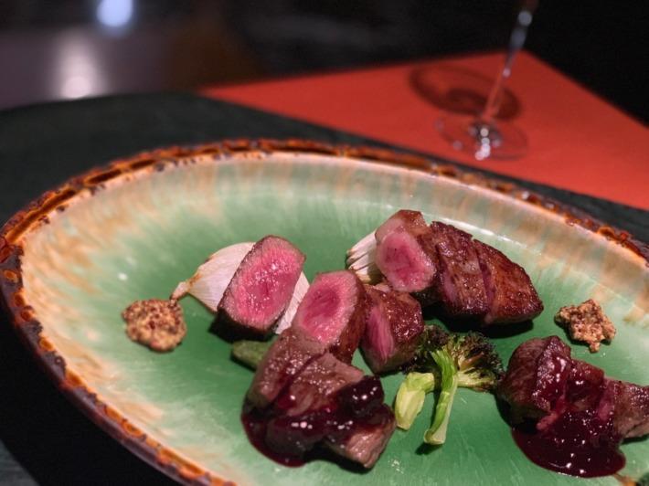 里の湯 和らく 食事処 赤牛のステーキ