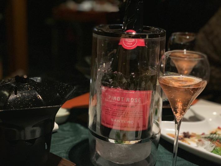 里の湯 和らく 食事処 ロゼ・スパークリングワイン