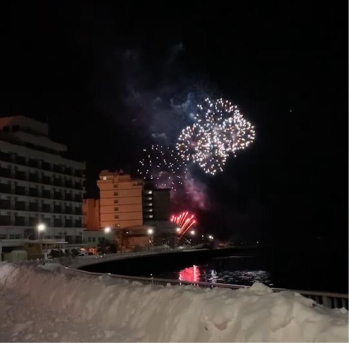 洞爺サンパレス リゾート&スパ周辺で打ち上げされた花火