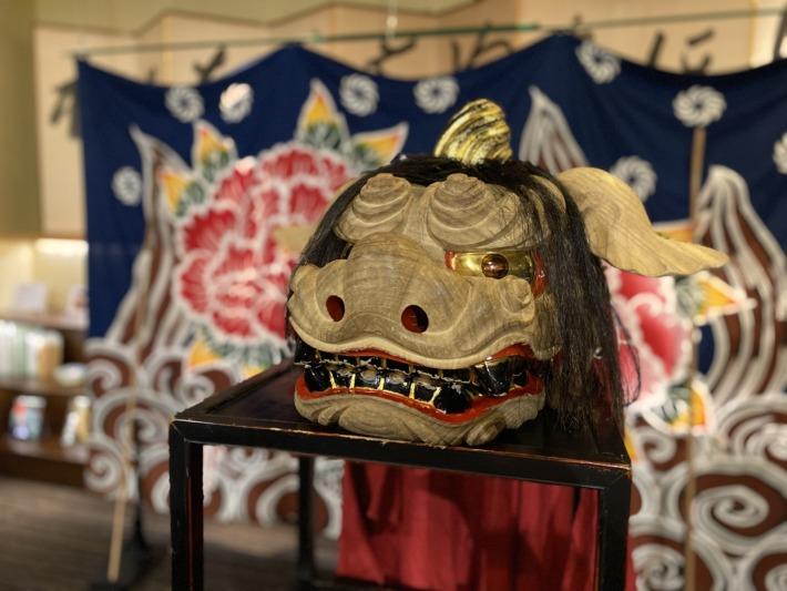 星野リゾート界加賀 獅子舞のパフォーマンスに使われる獅子頭