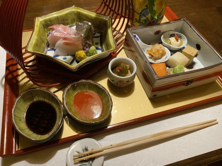 星野リゾート界加賀 夕食 前菜とお造り