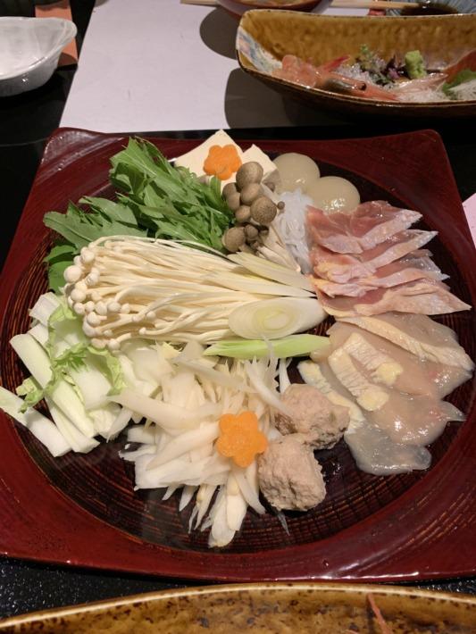 守田屋 夕食 会津地鶏のお鍋