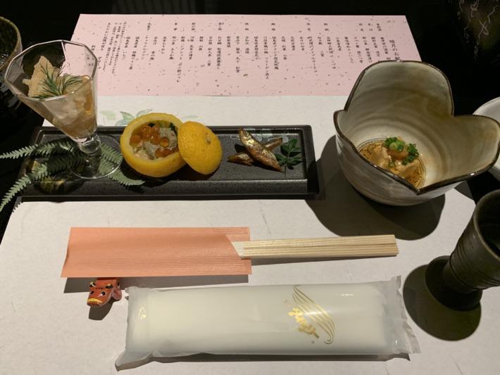 守田屋 夕食 前菜
