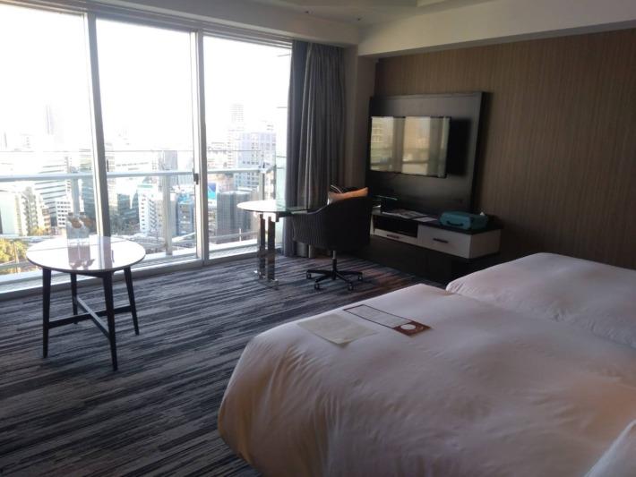 ザ・プリンスパークタワー東京 スイートルーム ベッドルームからの眺め