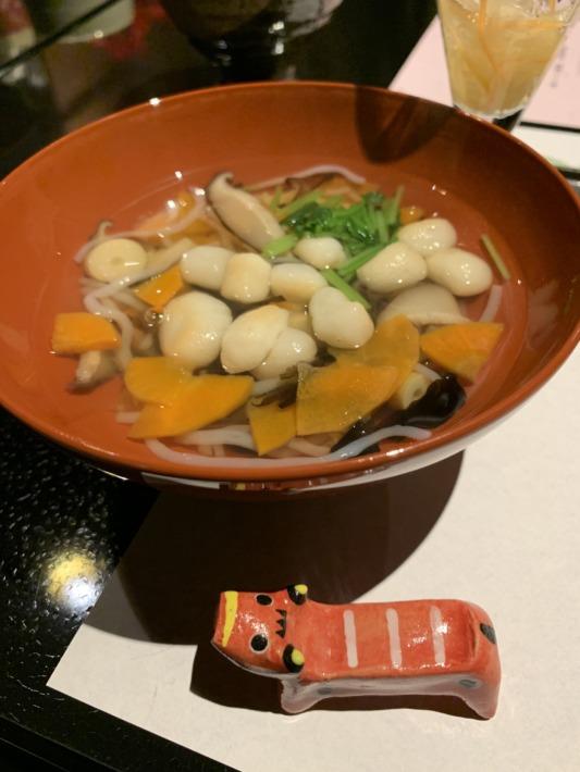 守田屋 夕食 会津の郷土料理「こづゆ」