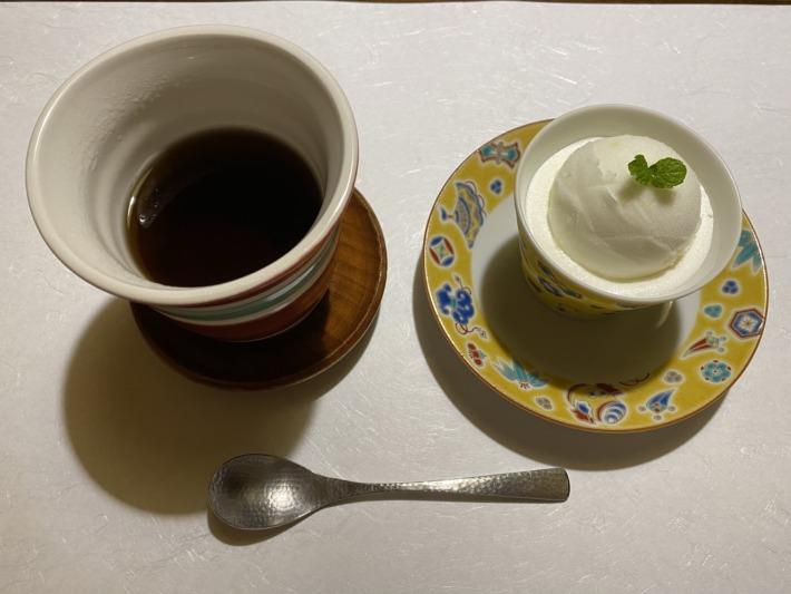 星野リゾート界加賀 加賀の棒ほうじ茶とシャーベット