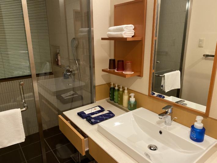 星野リゾート界加賀 客室 シャワールーム