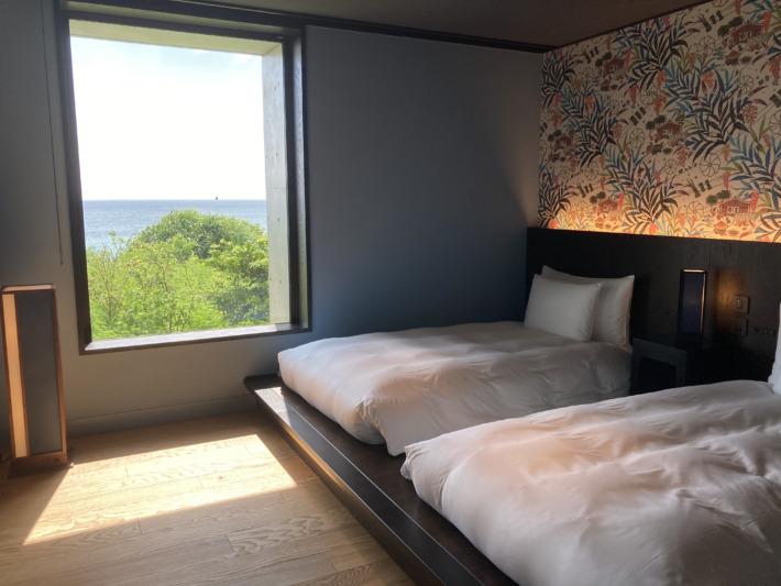 星のや沖縄 客室 ベッドルーム