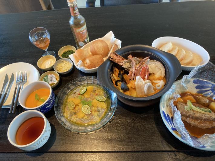星のや沖縄 夕食 ギャザリングサービス 洋食セット