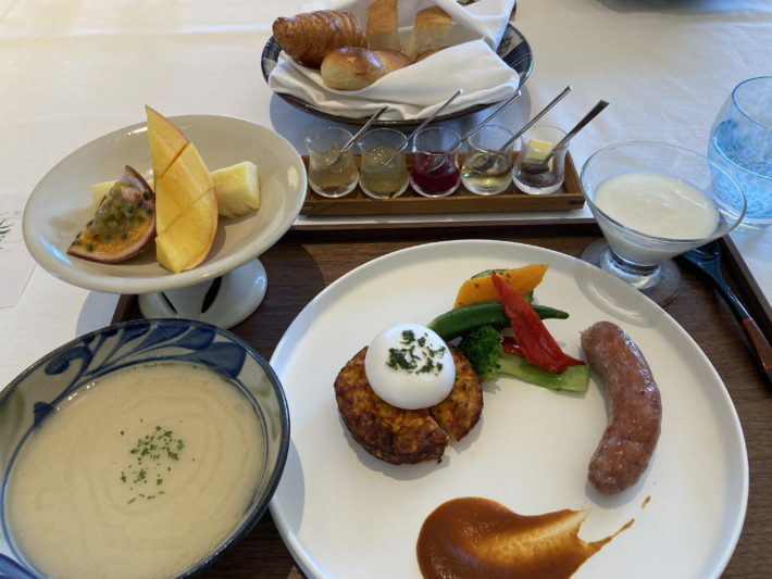 星のや沖縄 朝食 ダイニング シチリア朝食