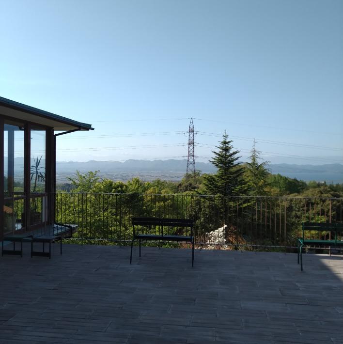 宍道ふるさと森林公園クラブハウス展望デッキからの眺め