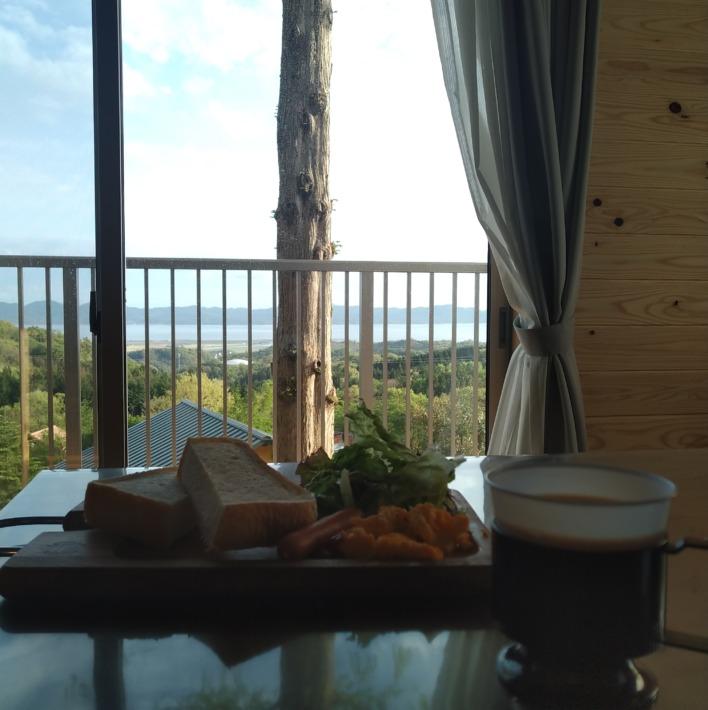 宍道ふるさと森林公園のオシャレな朝食