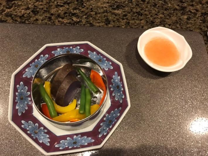 エクシブ鳥羽別邸 夕食:蒸し野菜
