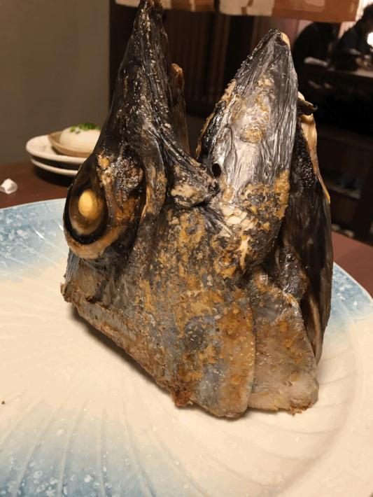 網元の宿ろくや 夕食 マグロのカブト焼き