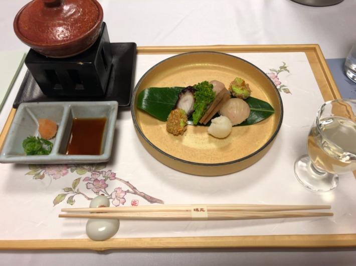 中の坊瑞苑 夕食 前菜