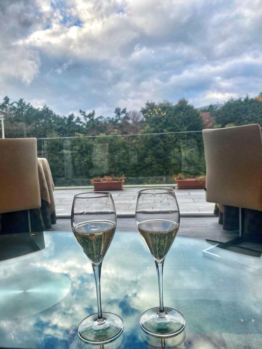 Hiramatsu 仙石原 ウェルカムドリンクのスパークリングワイン