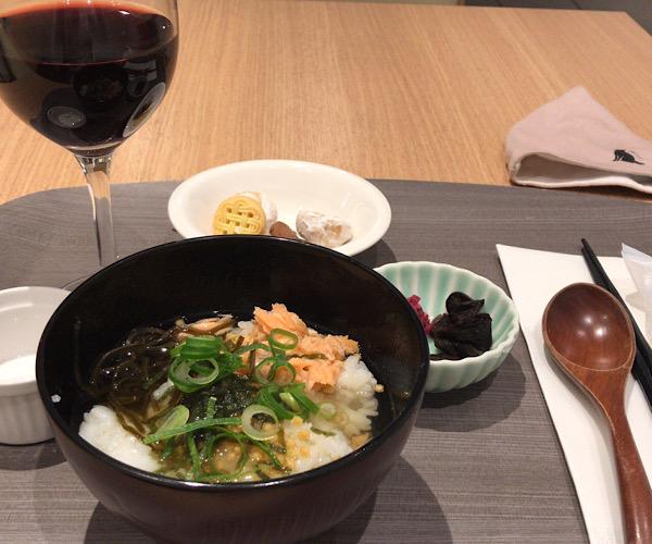 ホテルインターゲート京都四条新町 館内 ラウンジ ぶぶ漬け(お茶漬け)