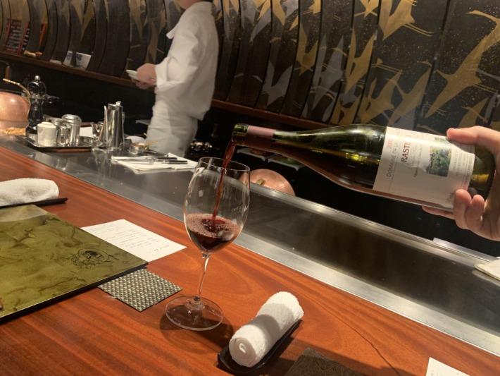 エクシブ湯河原離宮 鉄板焼きレストラン 夕食 ワイン