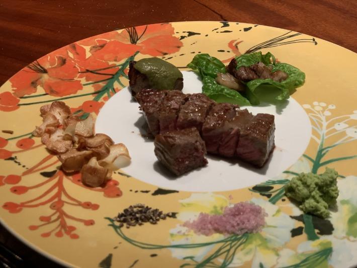 エクシブ湯河原離宮 鉄板焼きレストラン 夕食  コース料理 メイン