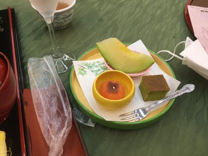 湯之助の宿長楽園 お食事処「故郷」夕食 デザート三種盛
