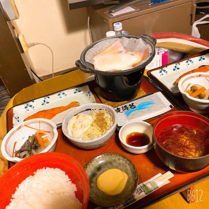 鉛温泉藤三旅館 湯治部 朝食