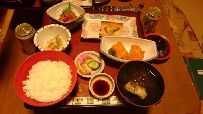 鉛温泉藤三旅館 湯治部 夕食