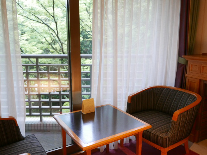 奈良ホテル バルコニー