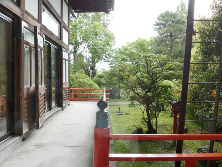 奈良ホテル 廊下からの景色