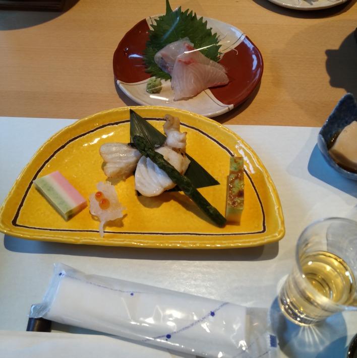 清嵐荘  レストラン『稲田姫』夕食 前菜