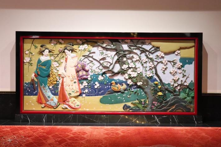 ホテル雅叙園東京 彩色木彫板